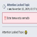 Attention Locked Topic