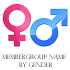 Membergroup name by gender